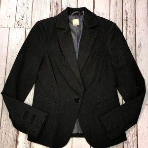 Ecru Charcoal Blazer Size 2 EUC
